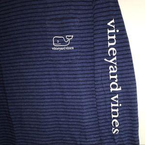Vineyard Vines Shirts & Tops - Vineyard Vines long sleeve, blue t-shirt with hood